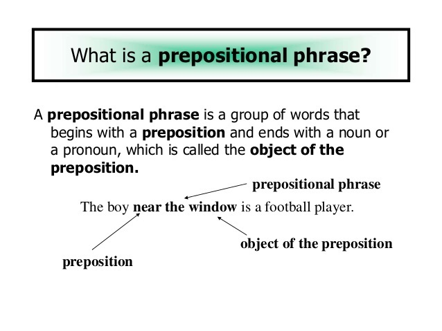 Give Me Examples Of Prepositional Phrases With Sentence Brainly