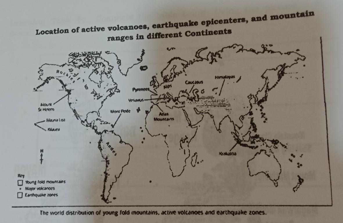 1 Based On The Map List Down The Places Where You Can Find The Following Volcanoes Earthquake Brainly Ph