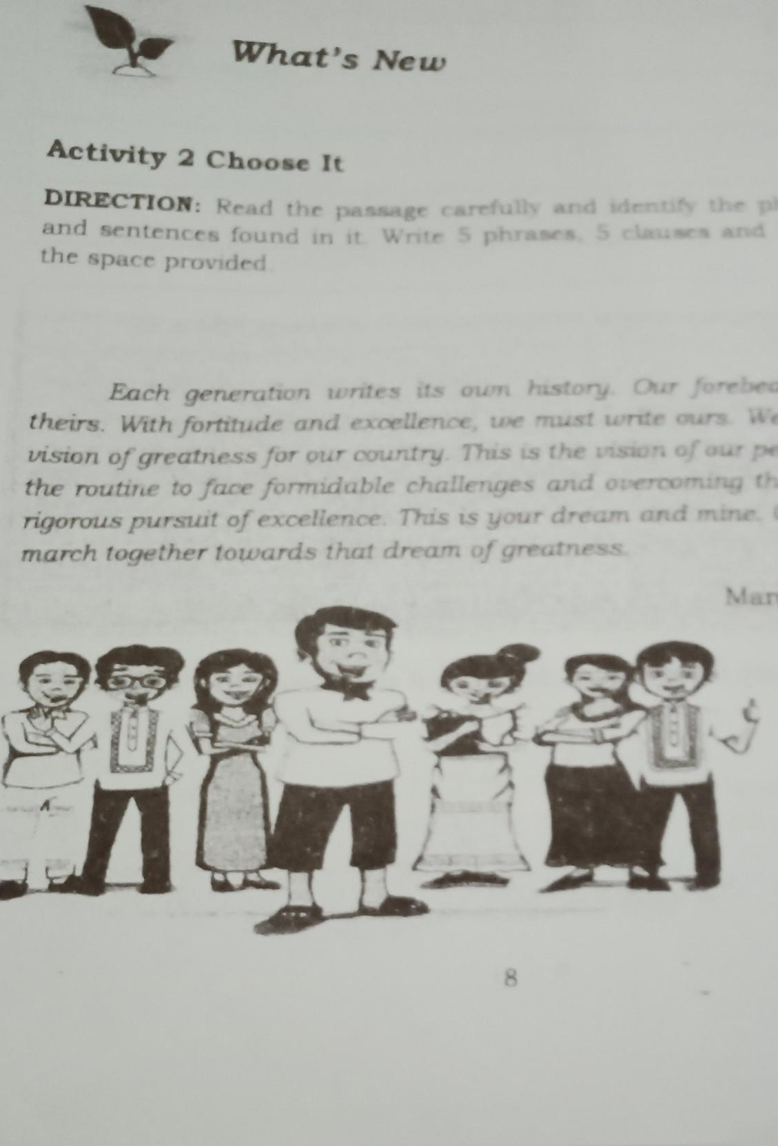 Activity 10 Choose ItDIRECTION Read the passage carefully and ...