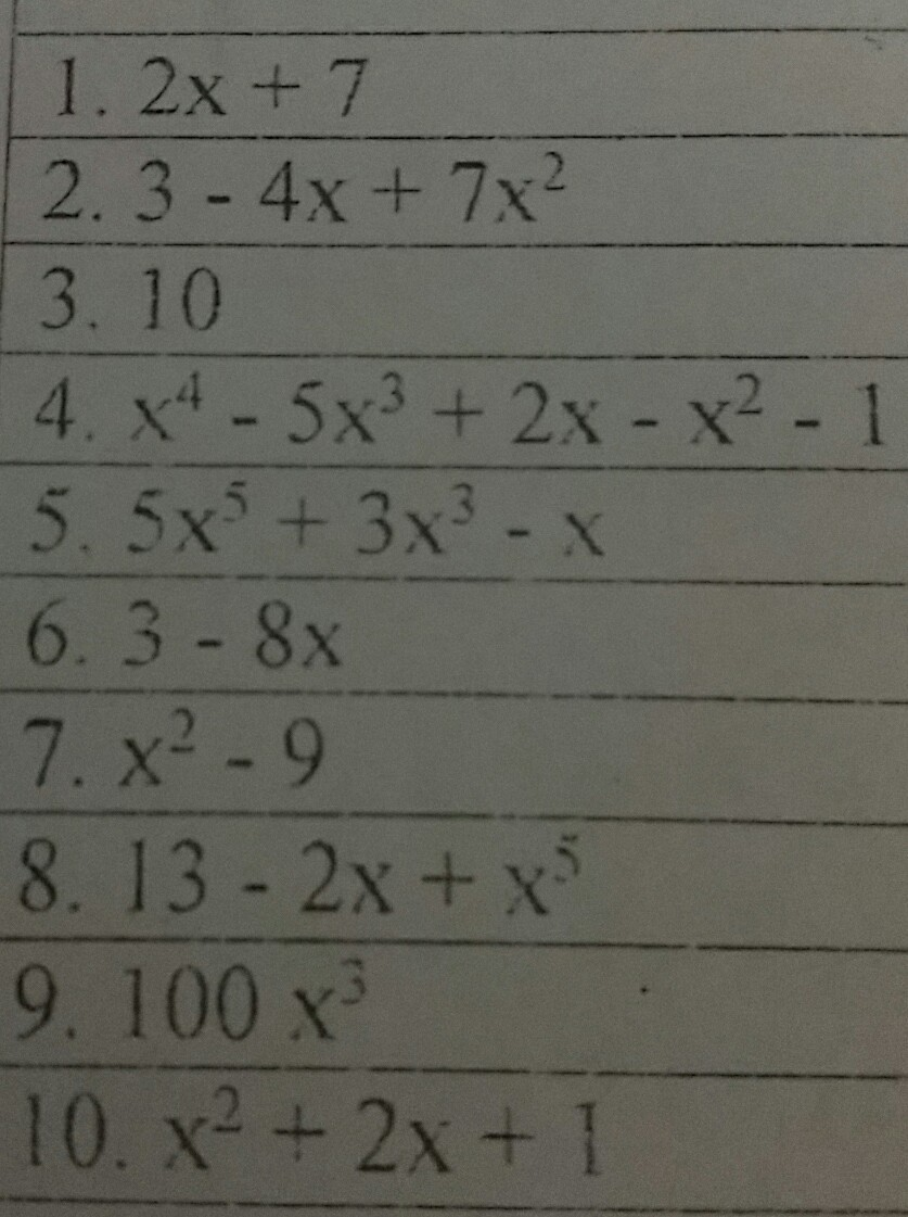 Please Help Me Write The Following Numbers At The Top To Standard