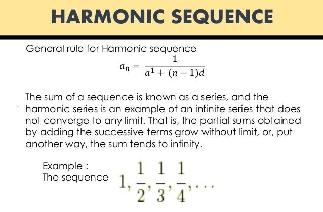 Harmonic sequences youtube.