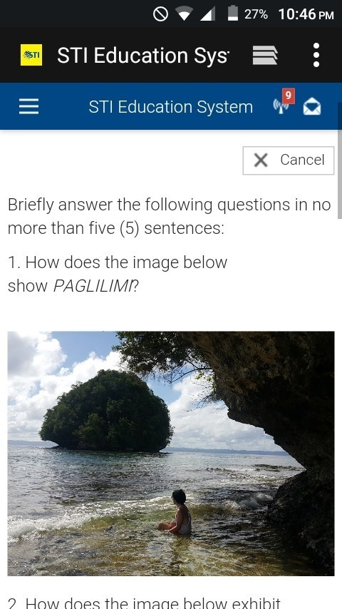 1  How does the image below show PAGLILIMI? - Brainly ph