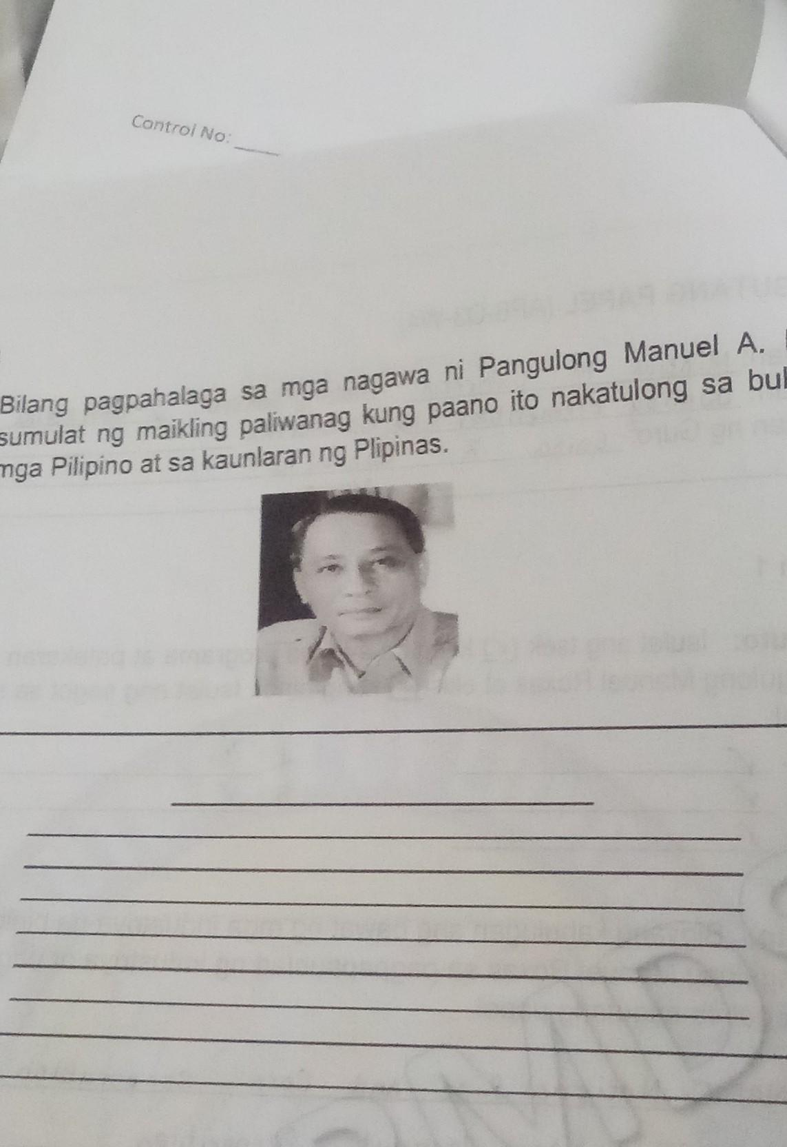 Roxas tagalog ni manuel talambuhay Talambuhay ng