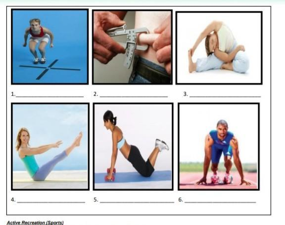 Identify And Classify The Pictures Shown Based On The Components Of Health Related Fitness And Brainly Ph